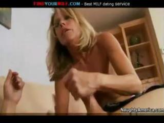 Hot mom nikki charm is in action and sucks and