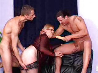 fiery redheaded granny bitches take on hot group