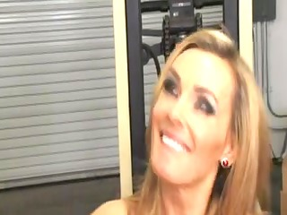 taut golden-haired mother id like to fuck office