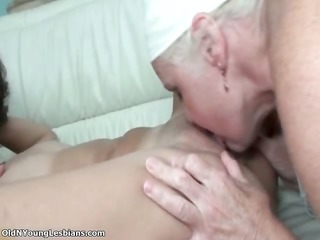 excited old lesbo woman enjoys licking part9