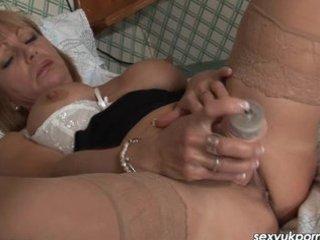 older british pornstar masturbates
