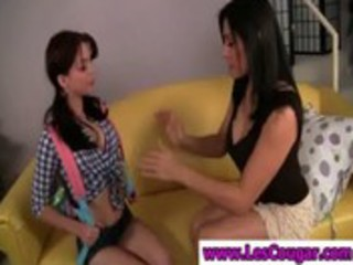 lesbian legal age teenager have fun with mamma