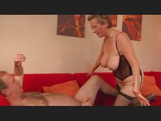 granny plays with a little penis