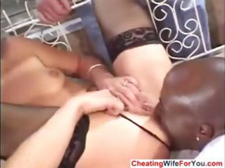 wife drilled by bbc and got a facial
