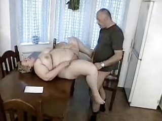man receives caught jerking off by bbw granny