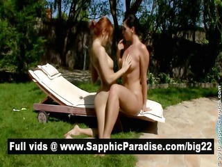 pretty brunette hair and redhead lesbos fingering