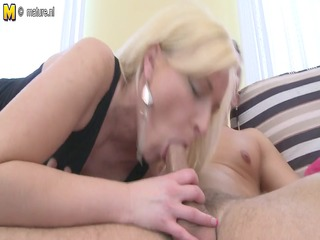 immodest blond mother id like to fuck sucks and