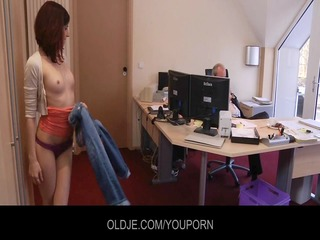 young nasty assistant fucking her old boss