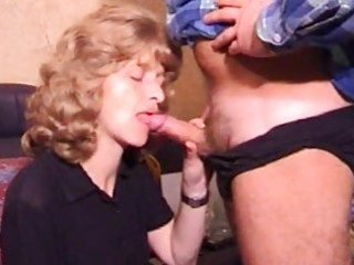 mature amateur wife homemade blowjob with jizz