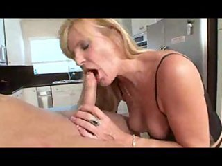 nina - hot blond granny in stocking