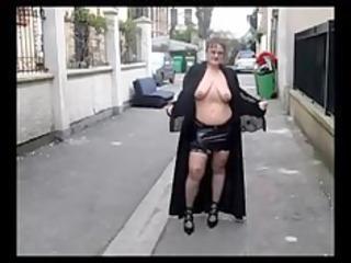 old big beautiful woman exhibitionist big