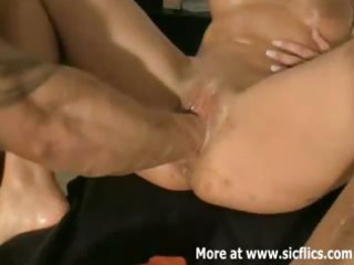 fist fucking the wifes monster twat
