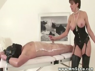 miss sonia acquires her hands on his hard rod and
