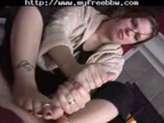 overweight wife tugjob footjob big beautiful