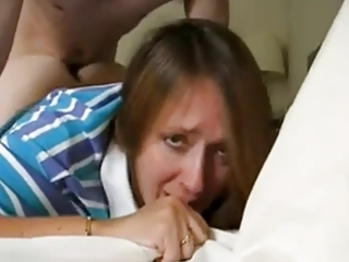 non-professional anal sex with mature, cum inside
