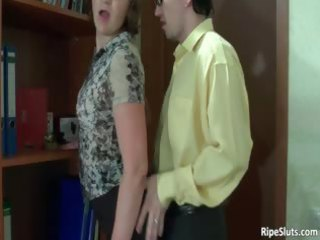 busty older horny doxy acquires pussy