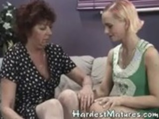 granny goes lesbo with hawt milf