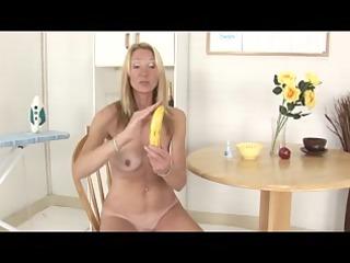 granny shows how to use a banana
