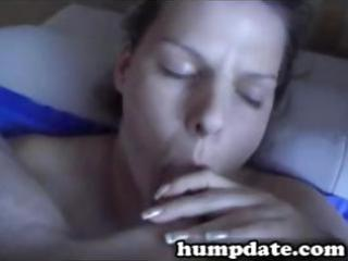breasty wife blows her husband and then gets