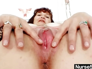 redhead grandma zita internal wet crack cervix
