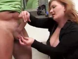 aged redhead gives this guy a cook jerking whilst