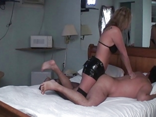 wife female-dominant pounds husbands butt with