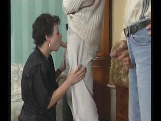 obscene aged bitch seduces youthful male that is
