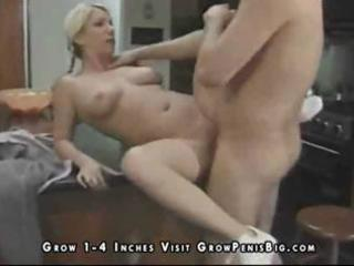lewd blonde wife milks his dong for some sperm in