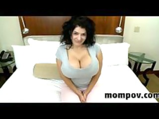 Mammoth tits milf fucking and sucking cock