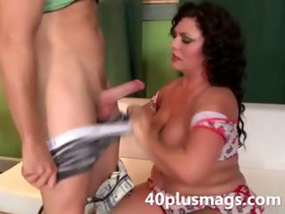 charming overweight latin chick mother i