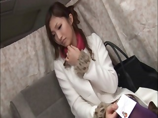 Sweet young Asian is teased with a vibrator in