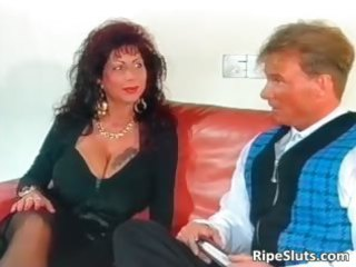 nice-looking mega boobed older wench acquires