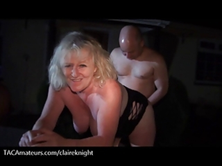 two grannies go late night bareback dogging