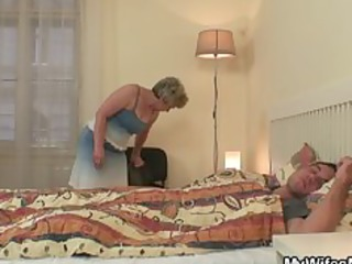 wife becomes raging when finds her man fucking