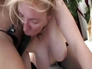 hot older women fuck each other with a strapon!