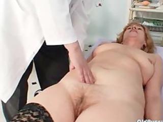 redhead dirty slit stretching in gyn clinic