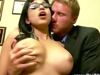 breasty latin chick acquires her vagina licked in