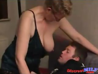 Amateur MILF fucked by young fat man
