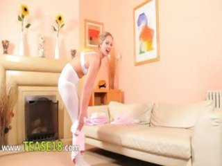 hawt mom in white pantyhose stripping