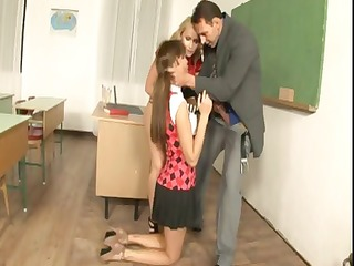 horny schoolgirls eat pussy and penis as they