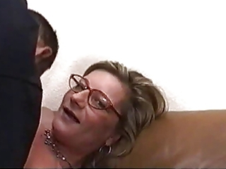 blonde milf with glasses screwed hard and rough