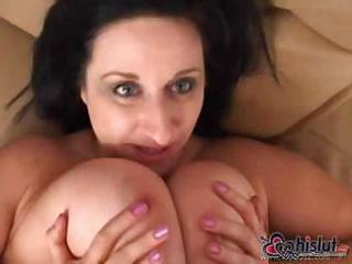 Busty kitty lee is a chunky mature milf sucking