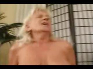 mature blond tramp with small droopy breasts