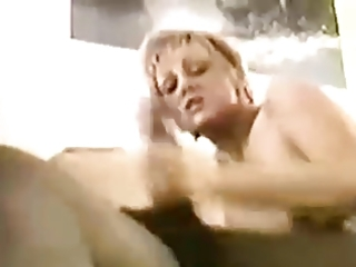 aged wife takes bbc jizz pie and hubby cleans up