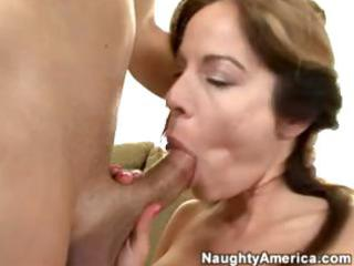 breasty dark brown wife is giving her horny