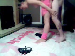 Amateur brunette wife dances in her tutu then