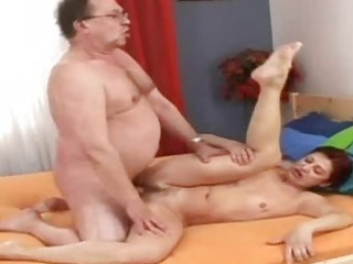 horny old grandmommy gets recent cream cocktail
