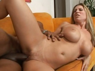 Lovely busty brunette milf getting her cunt