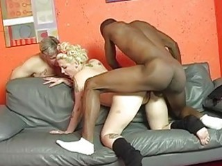 Pale cuckold wife with tattoes gets shagged by