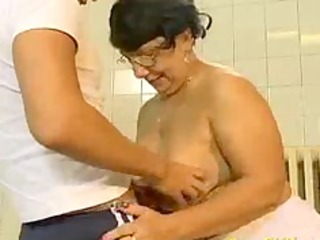 mad old mom receives fucked hard and does